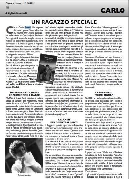 carlo acusti recensione su nuova e nostra rivista