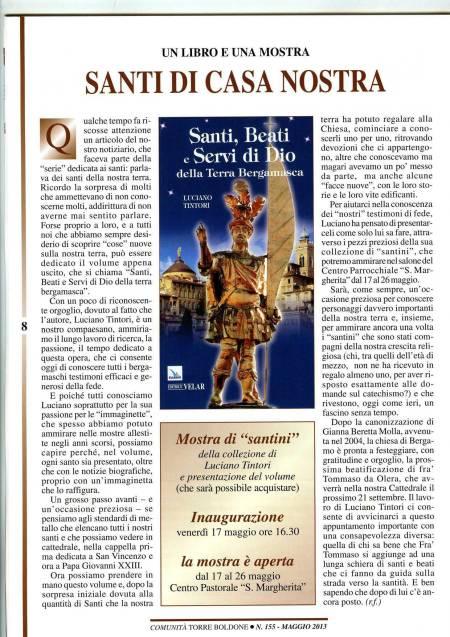 recensione del libro santi e beati nella terra bergamasca
