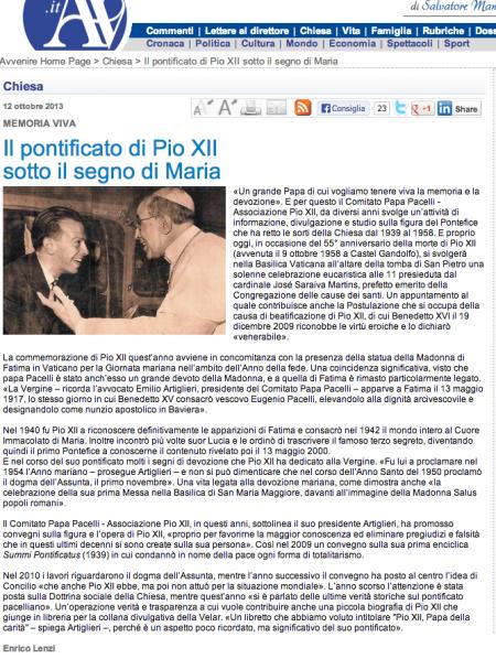 biografia su Pio XII