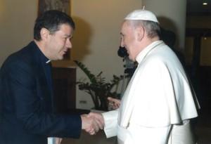 Udienza con Papa Francesco Luigi Ginami autore
