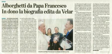 Papa Francesco e Alborghetti