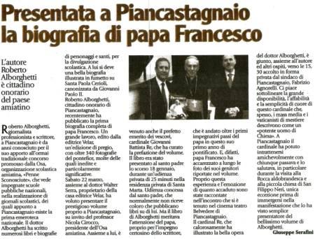 Articolo biografia papa Francesco