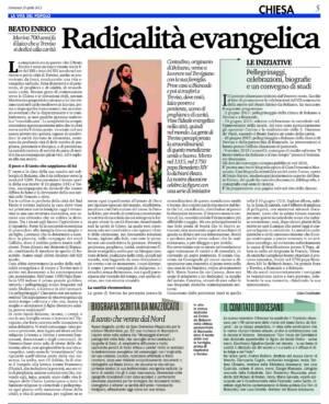 VITA DEL POPOLO 26-04-2015 BEATO ENRICO