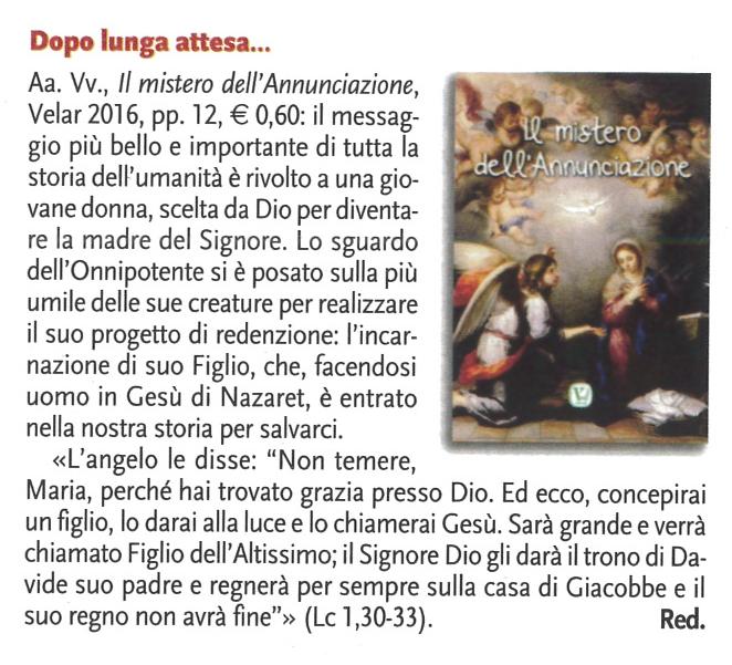 """Mensile """"Madre di Dio"""" n.6/2016"""